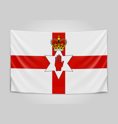 Hanging flag of northern ireland northern ireland vector
