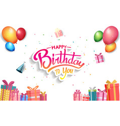 Happy birthday design with birthday gift box vector