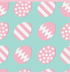 happy easter painting egg shell pink color vector image