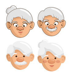happy grandparents ico vector image