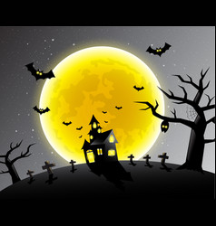 Happy halloween scary night backgrounds vector