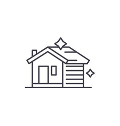 house cleaning line icon concept house cleaning vector image