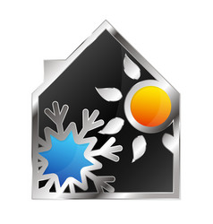 House with air conditioning vector