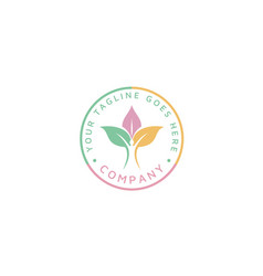 human plant leaf for nature healthy life logo vector image