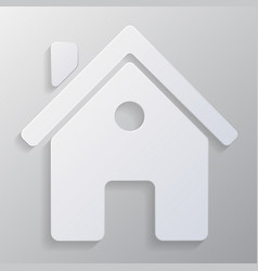 icon house with realistic shadows vector image