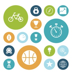 icons plain circle sport vector image