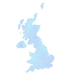 Icy united kingdom map vector