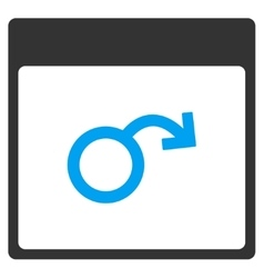 Impotence Calendar Page Toolbar Icon vector