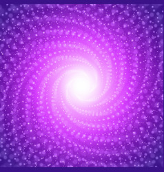 Infinite tunnel of shining flares on violet vector