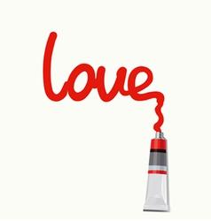 Inscription love - vector