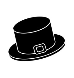 Irish top hat icon vector
