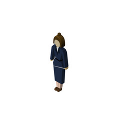 Isolated lady isometric businesswoman vector
