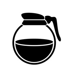 Jug coffee or tea canister pitcher simple logo vector