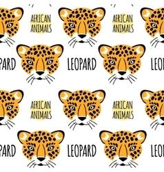 Leopard face seamless pattern vector