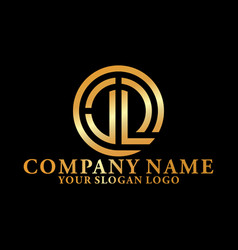 logo luxury letter j and l vector image