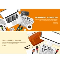Mass media background in a flat stylePress vector