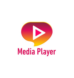 media player logo vector image