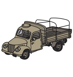Old miliary truck vector
