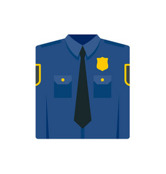 Police uniform icon flat style vector
