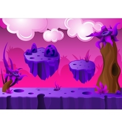 Purple Crater Land Game Design vector