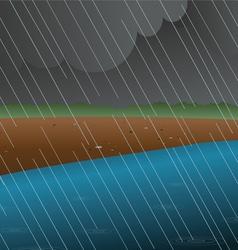 Rainy river vector