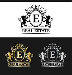 real estate monogram logo templatesluxury vector image