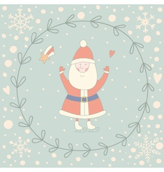 Santa Claus wreath vector image