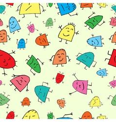 Seamless background merry children vector