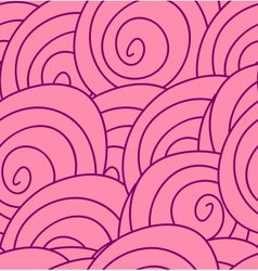 Seamless flower pattern with abstract pink roses vector image