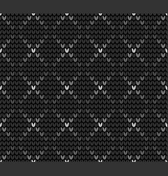 seamless gray knitting wallpaper vector image