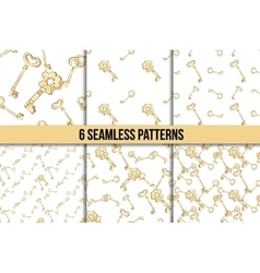 Seamless keys pattern set vector image