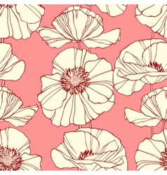 Seamless pattern with hand drawn decorative vector image