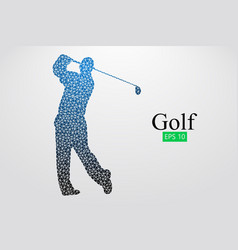Silhouette of a golf player vector