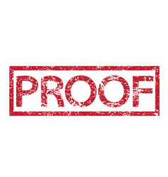 stamp text proof vector image