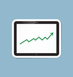 Stock raise up high with tablet vector