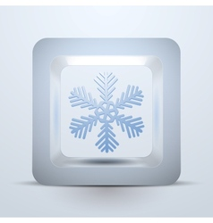 Symbol snowflake of Christmas and New Year vector