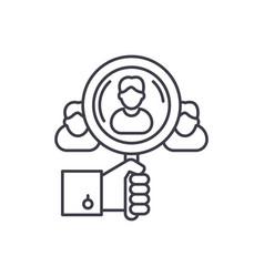 Talent search line icon concept talent search vector
