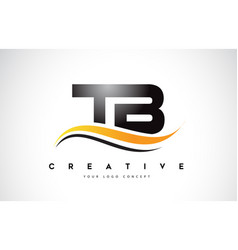 Tb t b swoosh letter logo design with modern vector