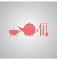 Teapot and cup of tea vector image