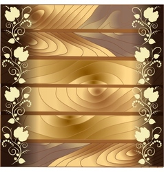 The pattern on the wood background vector image