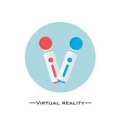 virtual reality controller flat design gaming vector image