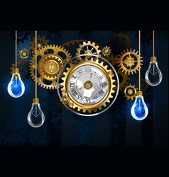 watches and light bulbs vector image