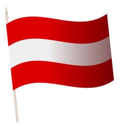Waving flag on a flagpole national vector
