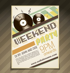 Weekend party brochure vector