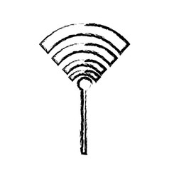 wifi internet connection signal technology vector image