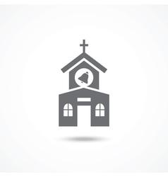 Church icon vector image vector image