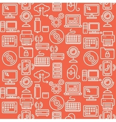 Computer Technology Seamless Pattern vector image vector image