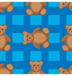 Cute teddy bear seamless pattern vector image vector image