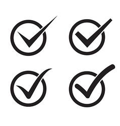 Set of check mark check box icons vector image vector image