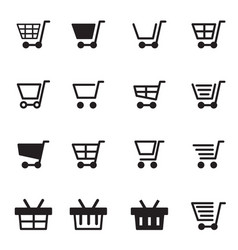 shopping cart basket icon vector image vector image